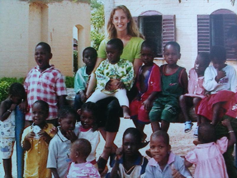 Pranalife Yoga founder Asia Nelson at Mali orphanage