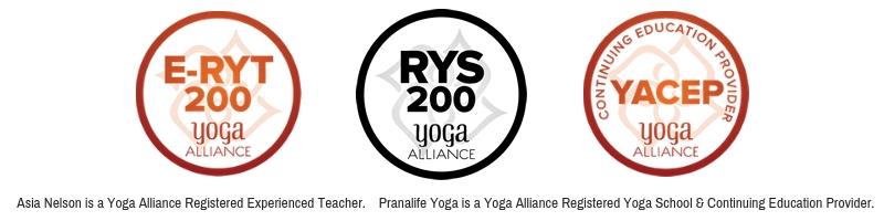 Pranalife Yoga Teacher Training RYS Yoga Alliance Asia Nelson E-RYT 200 yoga teacher